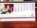 szívecskés asztali naptár