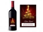 Karácsonyi boros címke /03