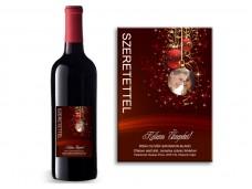 Karácsonyi boros címke /05