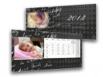 Fekete-nonfiguratív asztali naptár
