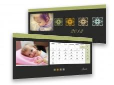 Standard fekete asztali naptár