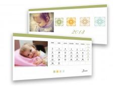 Standard fehér asztali naptár
