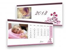 Szivecskés asztali naptár