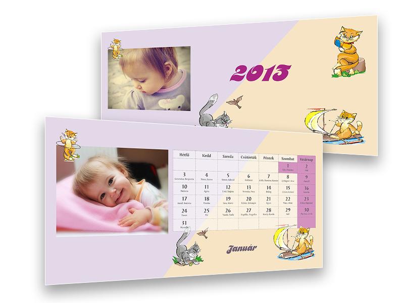 cicás asztali naptár Cicás, gyerek asztali naptár cicás asztali naptár